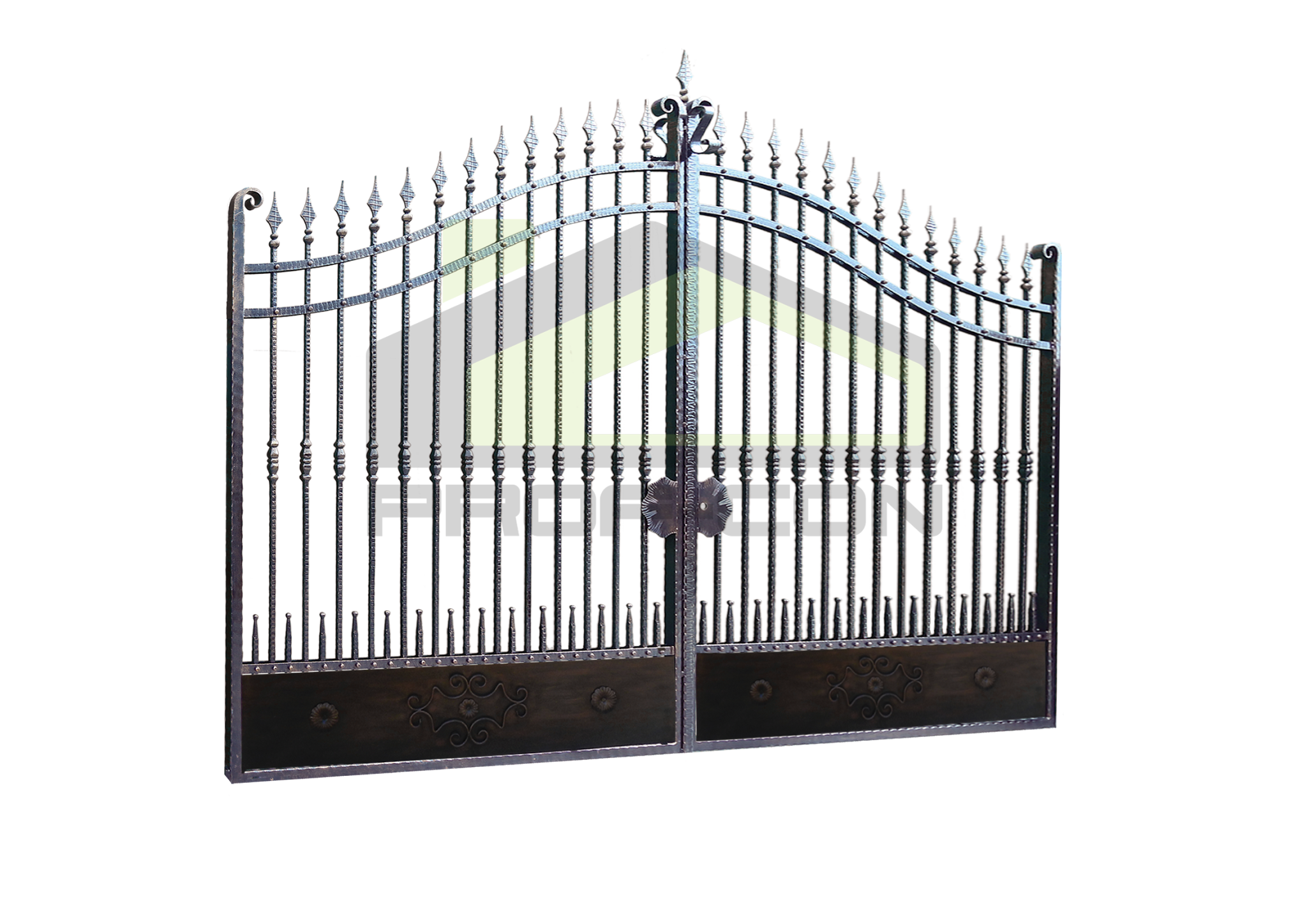 Wrought iron gates and fences PF 003