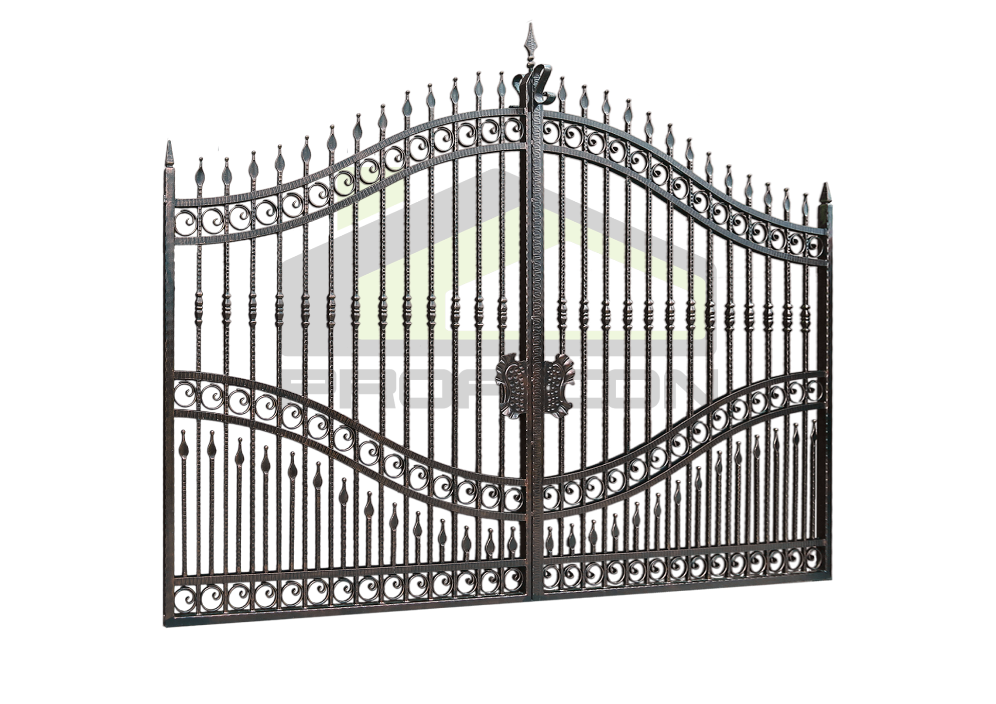 Wrought iron gates and fences PF 001
