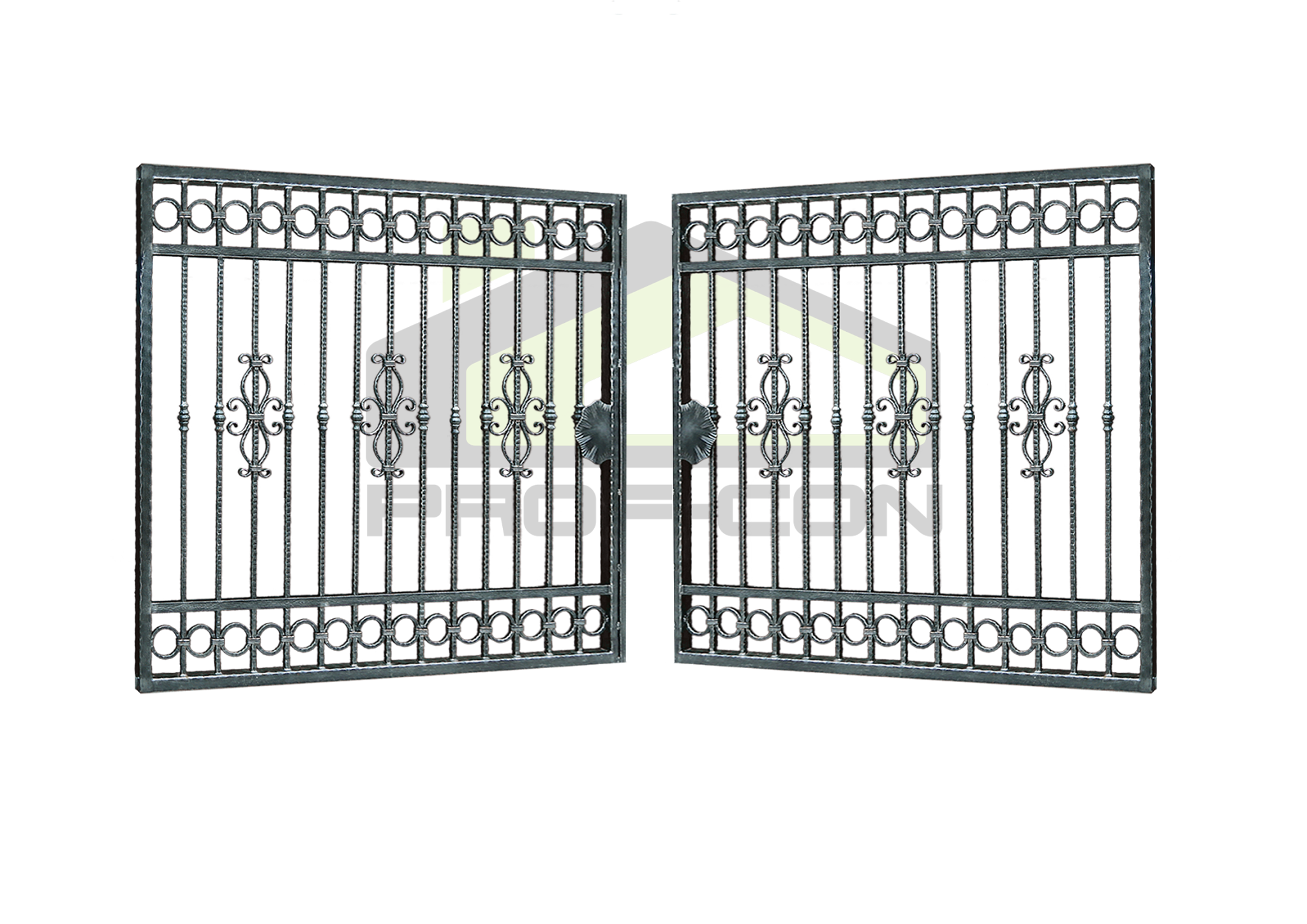 Wrought iron gates and fences PF 008