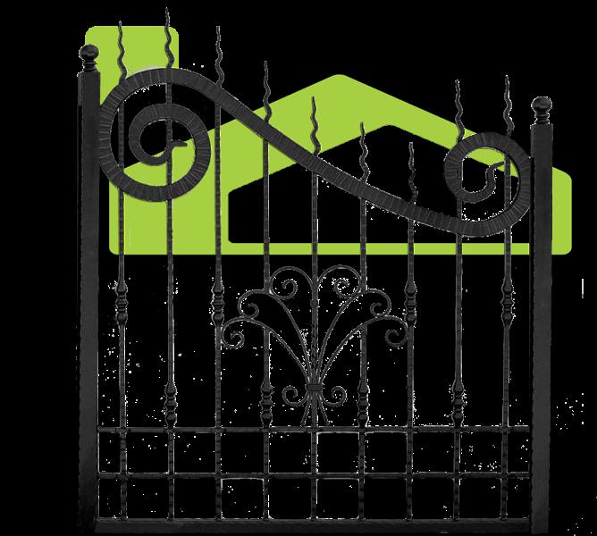 Wrought iron fences PF 002