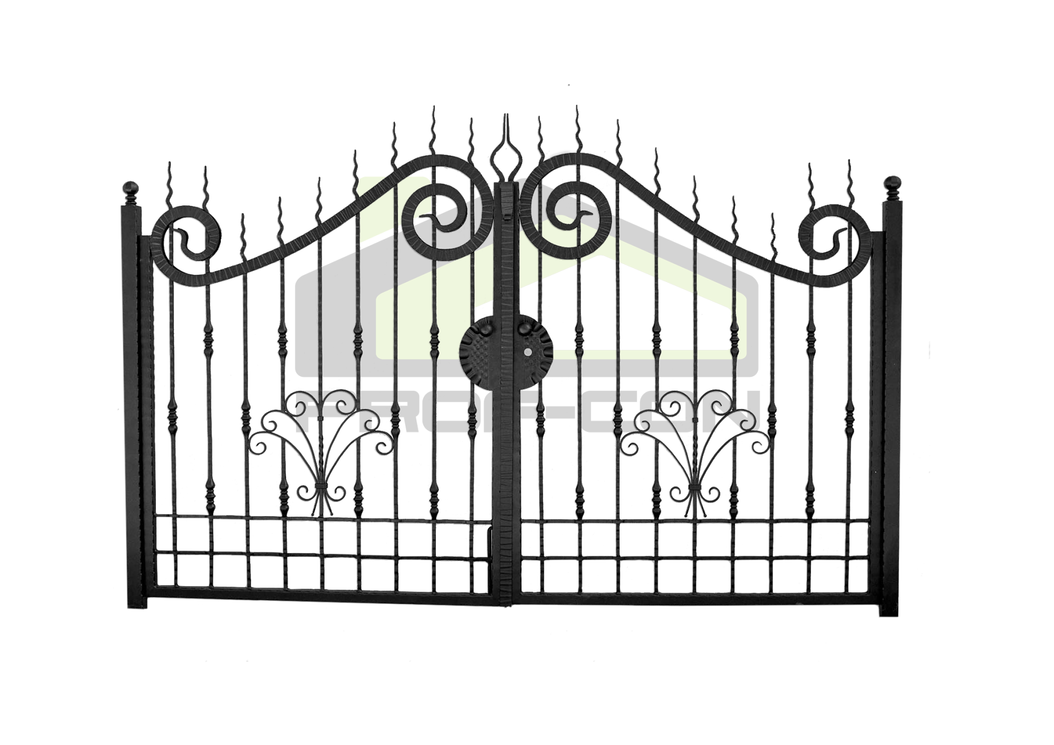Wrought iron gates and fences PF 002