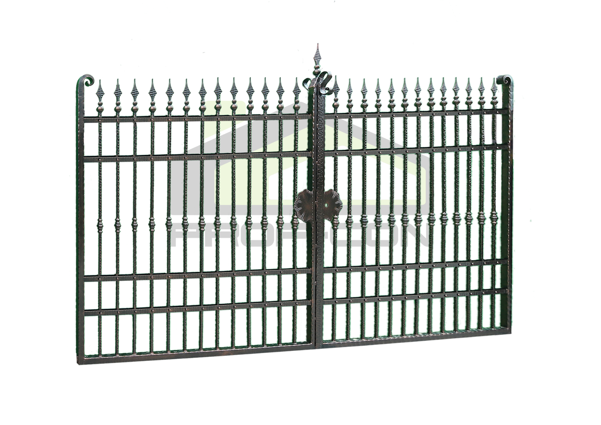 Wrought iron gates and fences PF 004