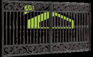Wrought iron gate PF 006