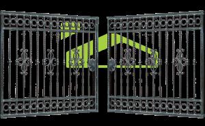 Wrought iron gate PF 008