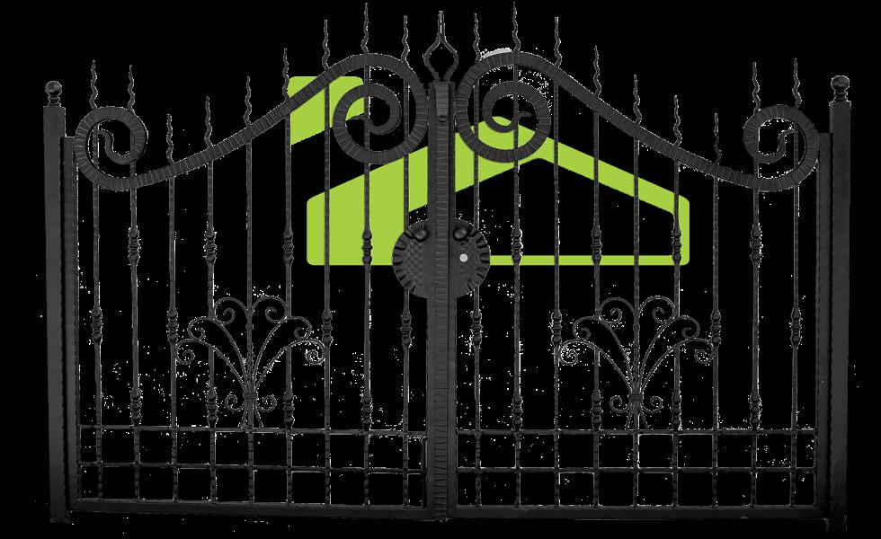 Smeedijzer poort PF 002