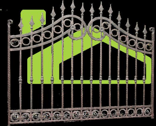Portes et clôtures en fer forgé